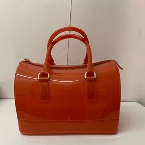 FURLA Candy Satchel Gloss Coral handbag